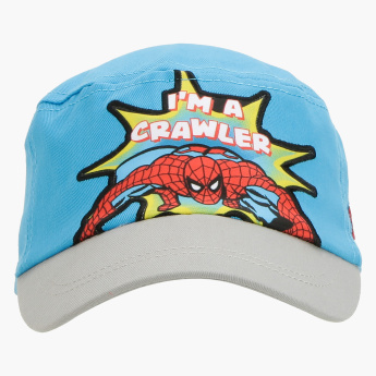 Spider-Man Printed Cap with Hook and Loop Closure