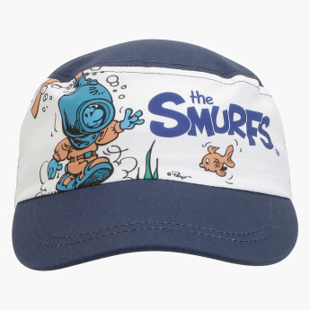 The Smurfs Printed Cap with Hook and Loop Closure