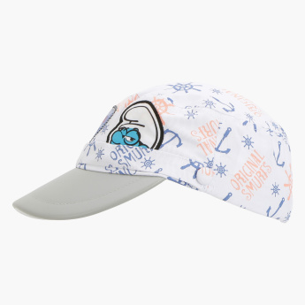 Smurfs Printed Cap with Hook and Loop Closure