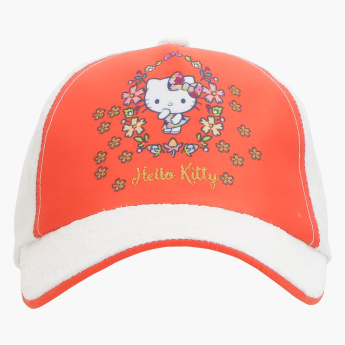 Hello Kitty Print Lace Embroidered Cap
