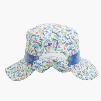 f79d30b5f09fe Hello Kitty Printed Bucket Hat with Bow Detail