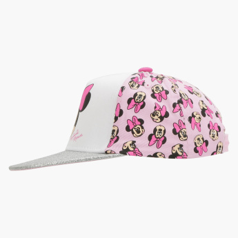 Minnie Mouse Printed Cap with Hook and Loop Closure