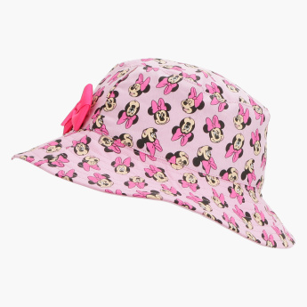 Minnie Mouse Printed Hat with Bow Detail