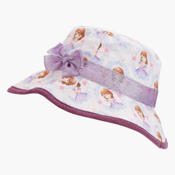 Sofia the Princess Printed Hat with Bow Detail