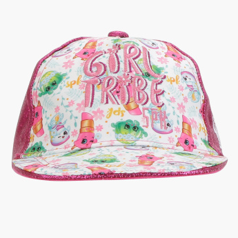 Shopkins Printed Cap with Snap Closure
