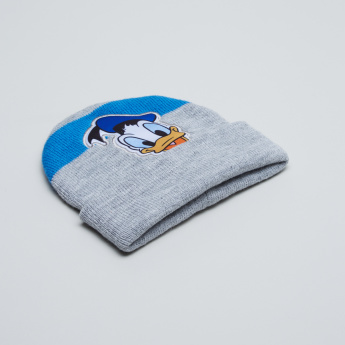Donald Duck Beanie Cap with Applique Detail