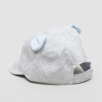 Juniors Embroidered Cap with Ear Applique Detail