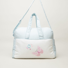 Juniors Butterfly Embroidered Diaper Bag Case