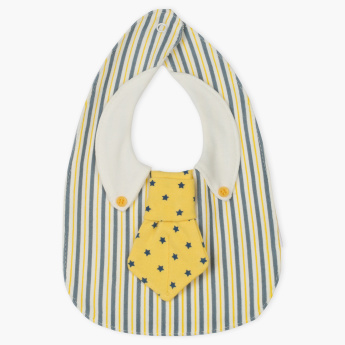 Juniors Tie Style Bib with Snap Button Closure