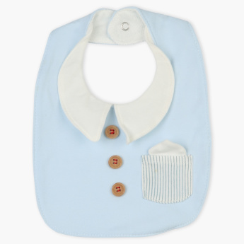 Juniors Pocket Detail Bib with Press Button Closure