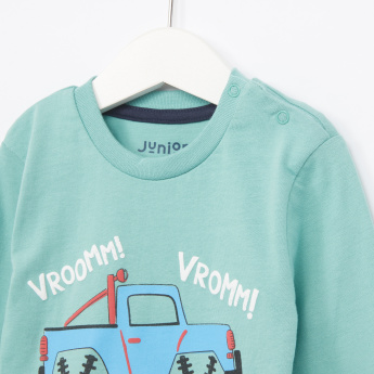 Juniors Truck Printed Long Sleeves T-Shirt