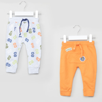 Juniors Pocket Detail Jog Pants with Drawstring - Set of 2