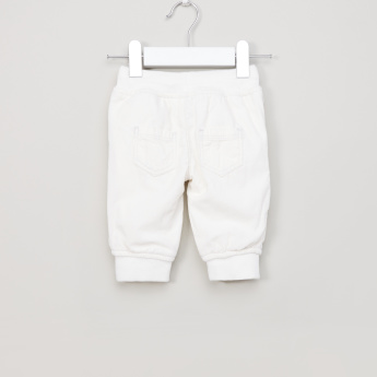 Juniors Pocket Detail Pants with Elasticised Waistband and Drawstring