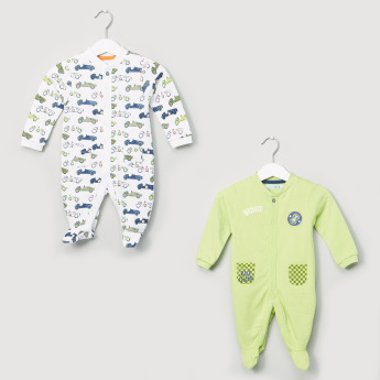 Juniors Printed Closed Feet Sleepsuit - Set of 2