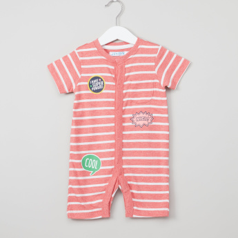 Juniors Striped Short Sleeves Romper - Set of 2