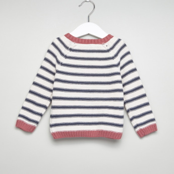 Giggles Striped Long Sleeves Pullover