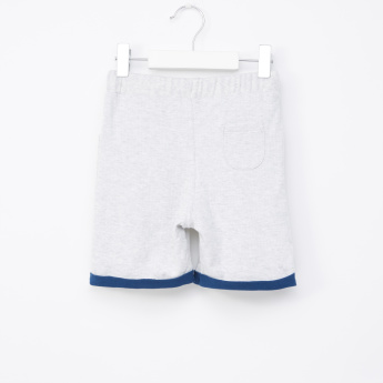 Juniors Melange Shorts with Drawstring and Pocket Detail