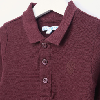 Juniors Polo Neck Long Sleeves T-Shirt