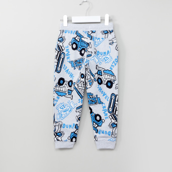 Juniors Printed Jog Pants with Drawstring