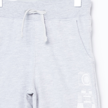 Juniors Printed Sweatshirt with Jog Pants