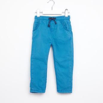 Juniors Woven Pants with Elasticised Waistband and Drawstring