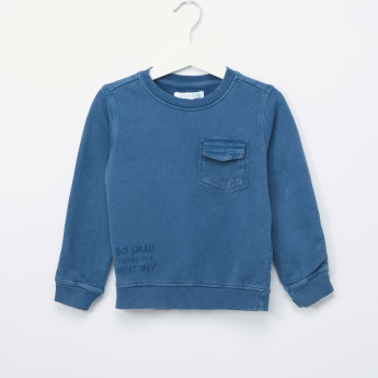 Juniors Washed Sweatshirt with Pocket