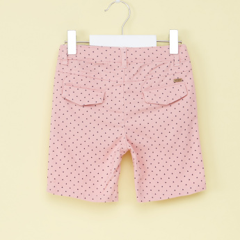 Eligo Printed Shorts with Button Closure
