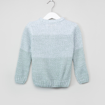 Eligo Textured Henley Neck Sweater