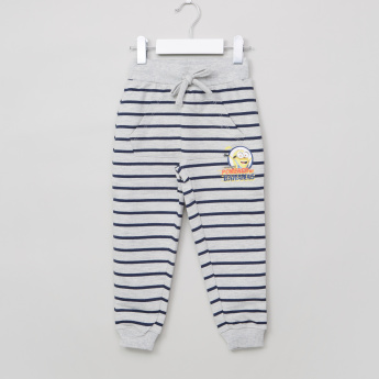 Minions Striped Jog Pants with Pocket Detail and Drawstring