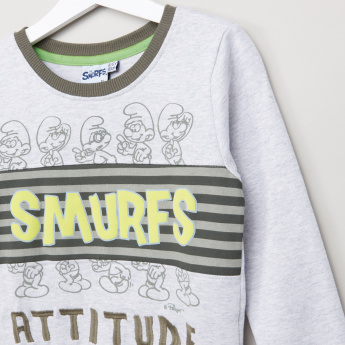 The Smurfs Printed Long Sleeves Sweatshirt