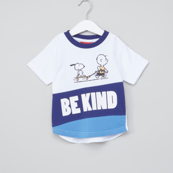 Snoopy Printed Round Neck T-Shirt