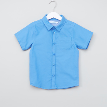 Juniors Short Sleeves Shirt with Complete Placket