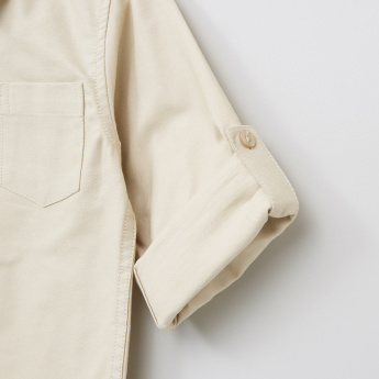 Juniors Pocket Detail Long Sleeves Shirt
