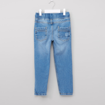 Juniors Full Length Denim Pants with Elasticised Waistband