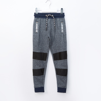 Juniors Textured Jog Pants with Drawstring