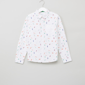 Juniors Printed Long Sleeves Shirt