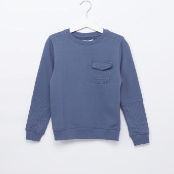 Juniors Solid Sweat top with Pocket