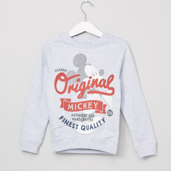 Mickey Mouse Printed Round Neck Long Sleeves Sweatshirt