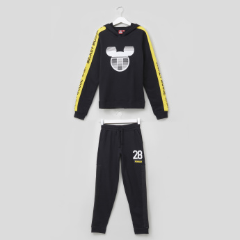Mickey Mouse Printed T-Shirt with Jog Pants - Set of 2