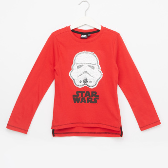Star Wars Sequin Detail Long Sleeves T-Shirt