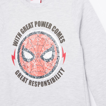 Spider-Man Printed Reversible Sequin Detail T-Shirt