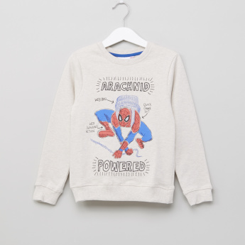 Spider-Man Printed Sweat Top