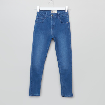Posh Full Length Jeans with Button Closure and Pocket Closure