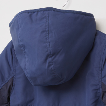 Posh Panelled Jacket with Hood