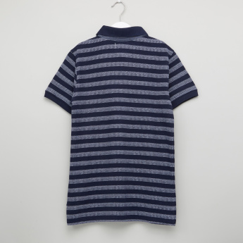 Posh Striped Polo Neck Short Sleeves T-Shirt