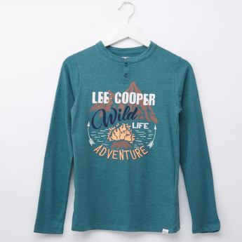 Lee Cooper Printed Long Sleeves T-Shirt