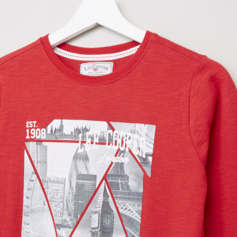 Lee Cooper Graphic Printed Long Sleeves T-Shirt