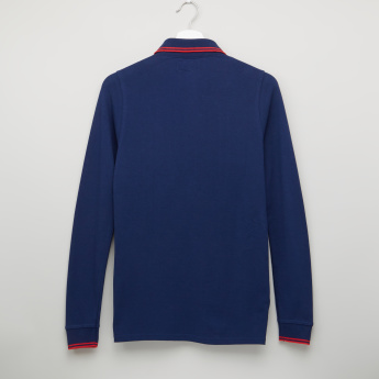 Lee Cooper Polo Neck Long Sleeves T-Shirt