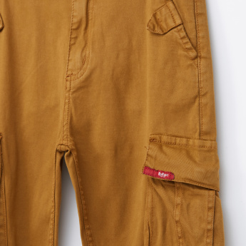 Lee Cooper Pocket Detail Jog Pants with Button Closure