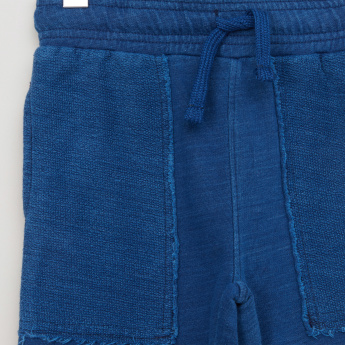 Lee Cooper Textured Shorts with Elasticised Waistband and Drawstring
